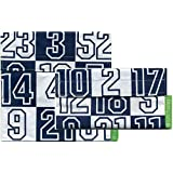 Lunchskins2 Multi-Pack Reusable Sandwich and Snack Bag, Navy Numbers, Set of 2