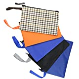 ASNOMY 5 Pack Oxford Cloth Tool Bags,Multipurpose Tool Pouch Tote Bag with Dependable Metal Zippers