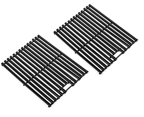 Zljoint Gloss Porcelain-Enameled Cooking Grid, Cooking Grates Replacement for Brinkmann 6345, Bakers & Chefs ST1017-012939, ST1017-012939, Charbroil and Charmglow Grills, Set of - 1/2 Cooking Grate