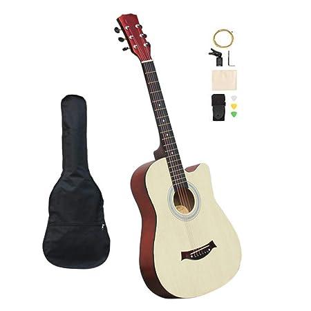 BAIYING-Guitarra Acústica 38 Pulgadas Balada Guitarra Práctica ...