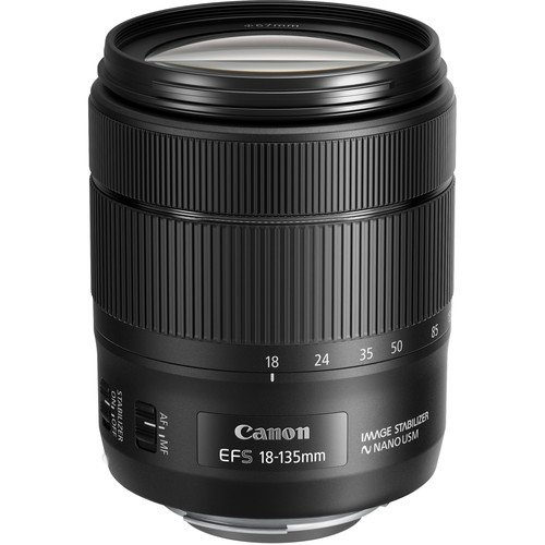 Canon EF-S 18-135mm f/3.5-5.6 Image Stabilization USM Lens (Black) (International Model) No Warranty [Bulk Packaging] by Canon