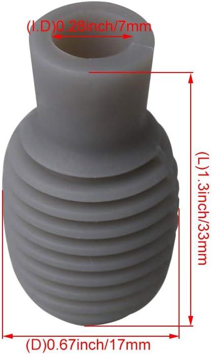 Embouts silencieux en silicone pour baguettes de batterie Largeur 17 mm gris