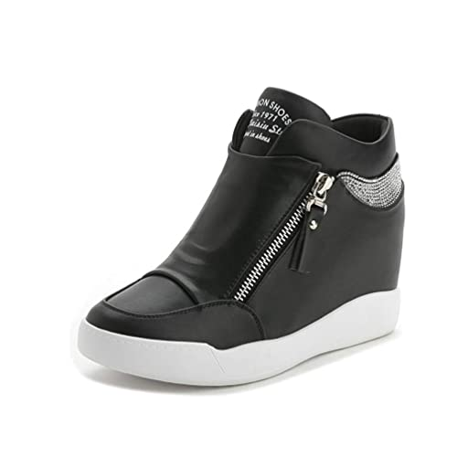 chic clásico más baratas mejores zapatillas de deporte Zapatos De Mujer con Plataforma De Cristal CuñAs Botas ...
