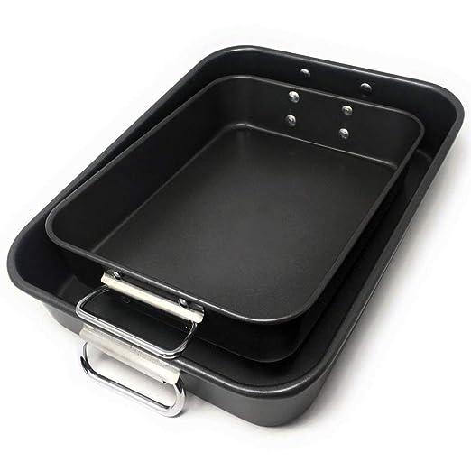LS Kitchen - Rustidera de Horno con Asas - Acero al Carbono - Set ...