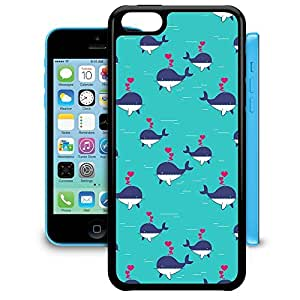 Bumper Phone Case For Apple iPhone 5C - I Whale Always Love You Premium Wrap-Around
