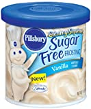 Pillsbury Creamy Supreme Sugar Free Vanilla Flavor Frosting, 15-Ounce (Pack of 6)