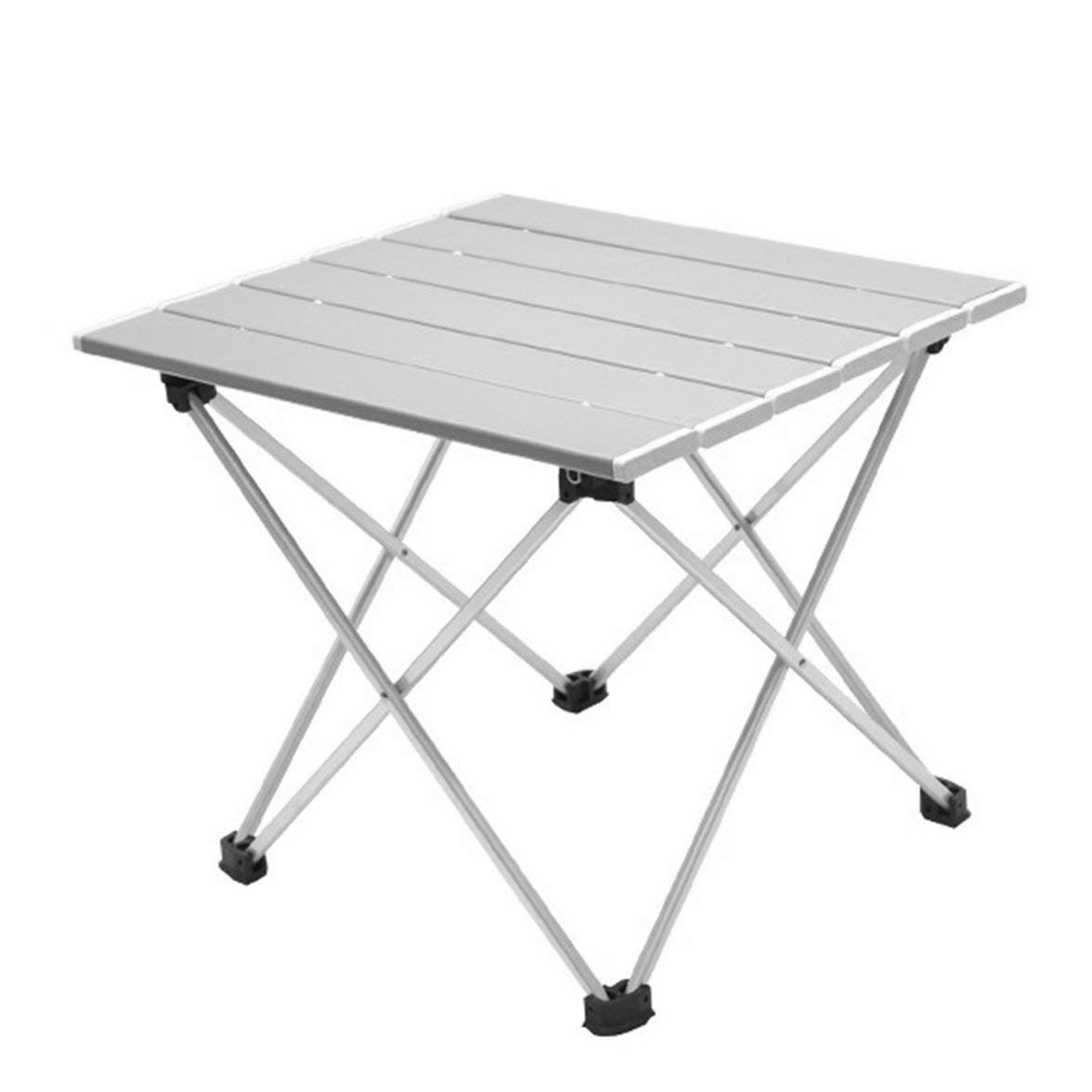 Pandamama Portable Folding Aluminum Roll Up Table Lightweight Outdoor Camping Picnic Simple Furniture Camping Table Tea Table by Pandamama