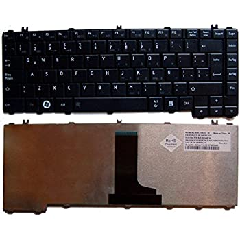 Compatible Replacement for Laptop Keyboard Toshiba Satellite L645 C600 L600 C645 NSK-TM0S 1E Spanish