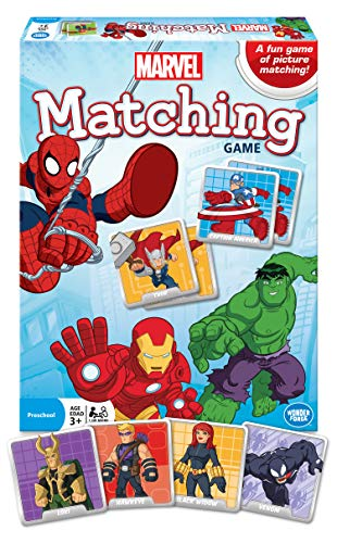 Wonder Forge Marvel Matching Game for Boys and Girls Age 3 to 5 - A Fun and Fast Superhero Memory Game You Can Play Over and Over]()