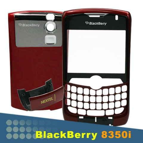 RIM BLACKBERRY CURVE 8350i 8350 NEXTEL RED HOUSING FACEPLATE+BATTERY DOOR COVER REPLACE + FIX TOOLS