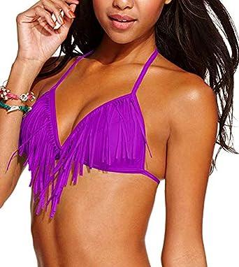 Fringe Push Up Bikini Top