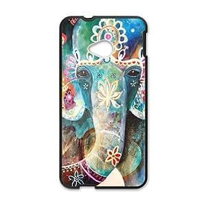 Elephant Vintage Style Black HTC M7 case