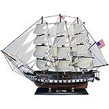 "Hampton Nautical Wooden USS Constitution Tall Model Ship, 30"""