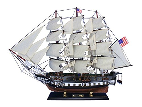 Constitution Wood Tall Ship Model - 3