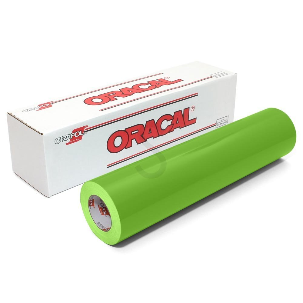 Oracal 651 Glossy Permanent Vinyl 12 Inch x 6 Feet - Limetree Green 4336976741