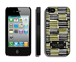Customize iPhone 4s Protective Skin Kate Spade New York Durable iPhone 4 4s Phone Case 152 Black