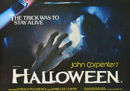 Halloween Movie Poster (30 x 40 Inches - 77cm x 102cm) (1978) UK -(Jamie Lee Curtis)(Donald Pleasence)(Nancy Loomis)(P.J. Soles)(Charles Cyphers)(Kyle Richards) ()