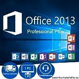 Microsoft Office 2013 Professional Plus Vollversion Deutsch 32/64 Bit 1PC