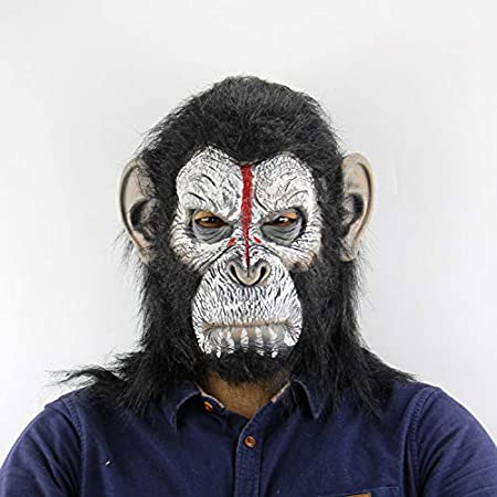 Halloween Gorilla Monkey Mask Animal Masquerade Cosplay Party Latex Full Face