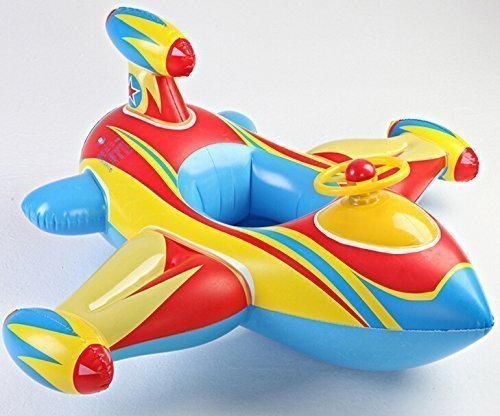 Micord Inflatable Airplane Baby Kids Toddler Infant Swimming Float Seat Boat Pool Ring Age 1-4 Airplane Floats