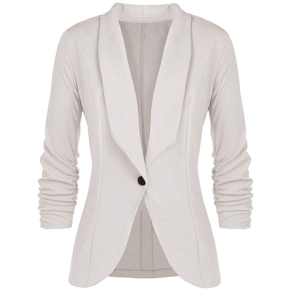 UsstoreWomen Slim Blazer Suit Coat OL Style Fall Winter Elegant Mandatory Splice Fit Work Formal Tops