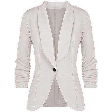 big sale f0bf9 36a77 OSYARD Grosses Soldes Gilet Court Femme Blazer Boléro Cardigan Basic en  Mousseline Veste de Soiree Chic