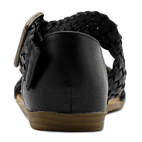 Flat Shoe Braided Side Buckle Color Women's Sandal Ollio Accent Multi Black 8qTOn