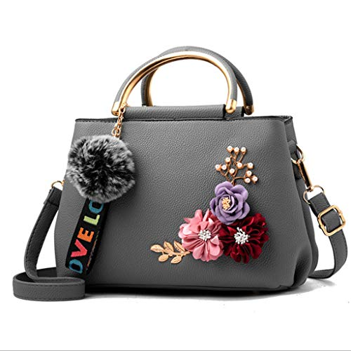 bandoulière mode brodé féminine 18 26 7 Nj 13cm à clair Sac à la Handbag simple couleurs gris Bwq8RAtq