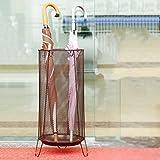 HLL Umbrella Stand(Umbrella Walking Stick Stand Storage Holder Rack) with Hooks and Walking Stick Stand Round for Canes/Walking Sticks 22X22X60Cm Round