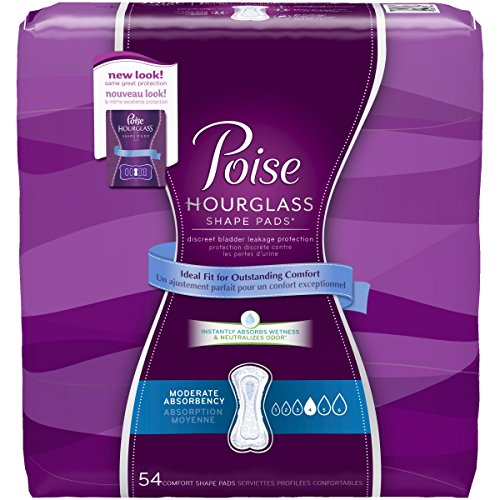 Poise Hourglass Shape, Moderate Absorbency Incontinence Pads, Regular Length, ()