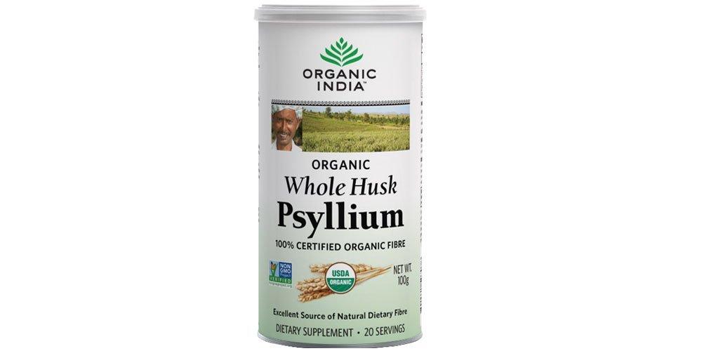 5 x Organic India Whole Husk Psyllium (Isabgol) - 100g