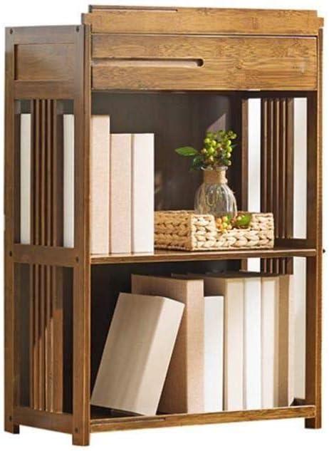 マルチレベル多機能ソリッドウッドのシンプルな本棚収納ブックシェルフをラック (Size : 52x28x79cm)
