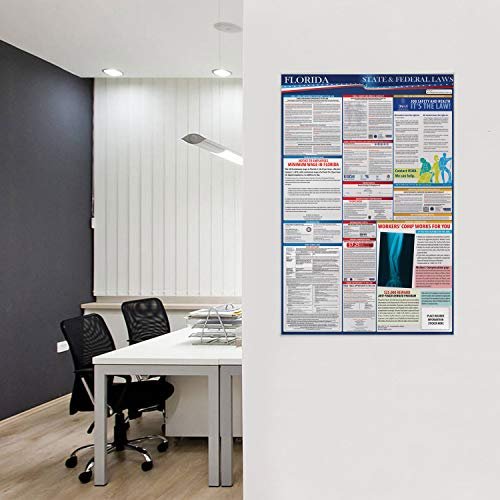 2019 Florida State and Federal Labor Laws Poster - OSHA Workplace Compliant 24'' x 36'' - All in One Required Posting - UV Coated by COMPLIANCE AUDIT CENTER (Image #4)