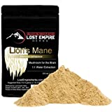 Lion's Mane Mushroom Extract Powder - Organic Nootropic Supplement - Helps Regulate Mood, Supports Brain Function, Improves Well Being, Memory Support - (100 g)