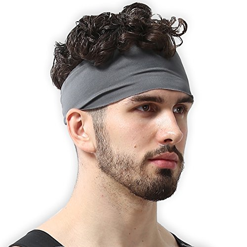 Mens Headband - Guys Sweatband & Sports Headband for Running, Working Out and Dominating Your Competition - Ultimate Performance Stretch & Moisture Wicking