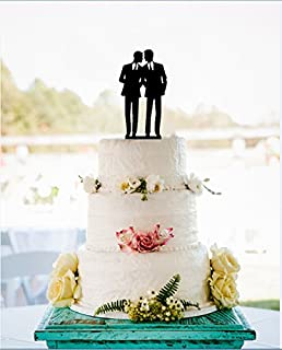 Amazoncom Wedding Collectibles Romance Gay Wedding Cake Topper