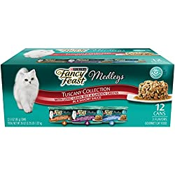 Purina Fancy Feast Medleys Tuscany Wet Cat Food Variety Pack - (2 Packs Of 12) 3 Oz. Cans
