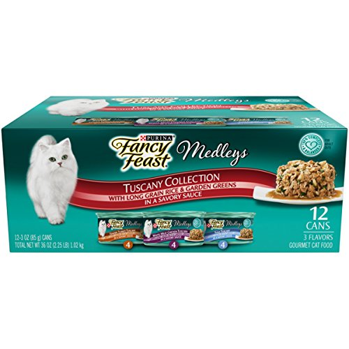 Purina Fancy Feast Medleys Tuscany Collection Gourmet Wet Cat Food Variety Pack- (24) 3 oz. Cans