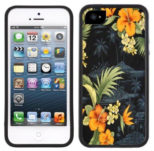 Fleur hawaïenne | Fait à la main | iPhone 5c | Etui Housse noir