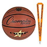 Champion Sports Composite Basketballs Orange Bundle with 1 Performall Lanyard SB1010-1P