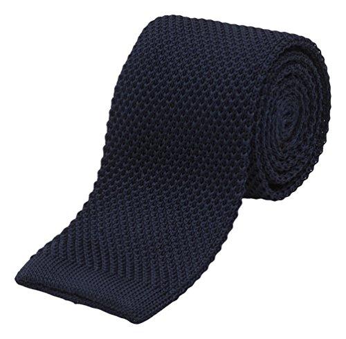 - Benchmark Ties 100% Silk Knit Tie in Navy (2.5