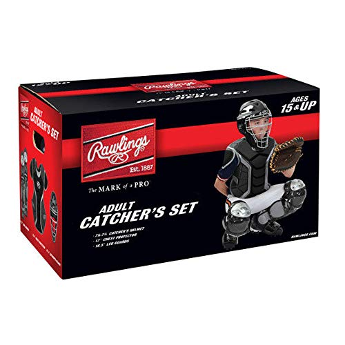 (Rawlings Sporting Goods Renegade Series Catcher Set (Ages 15 Plus), Scarlet/Silver)