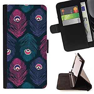 Jordan Colourful Shop - peacock Teal Pink Purple For Apple Iphone 5C - Leather Case Absorci???¡¯???€????€??????????