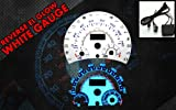 Brand New White Face Blue Indigo Reverse Glow Gauges For 98-04 Volkswagen Beetle (I-452)