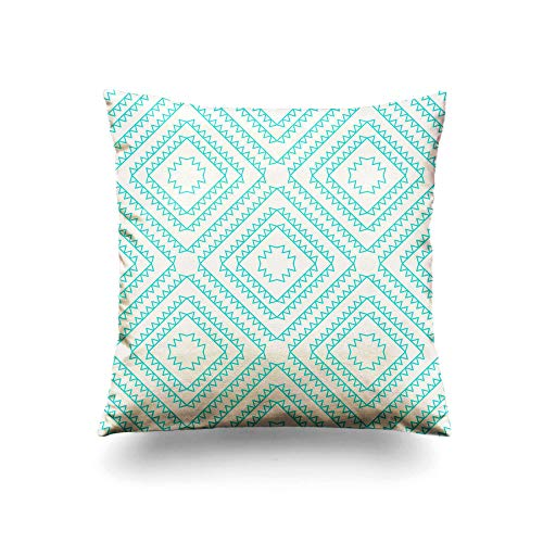 Diamond Toss Wallpaper - Assp Throw Pillow Cover Seamless Wallpaper of Line Art Nested Diamond Shape with Aztec 18x18 Inches Home Decorative Square Pillow Case Cushion Cover