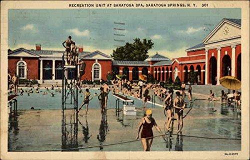 Recreation Unit at Sarasota Spa Saratoga Springs, New York Original Vintage Postcard