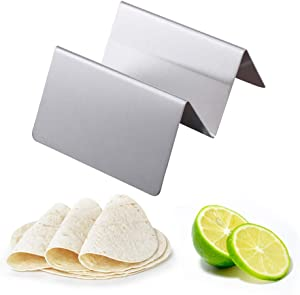 Celiy Kitchen Dining Bar Decors Onsales, Wave Shape Stainless Steel Taco Holder Display Holders Kitchen Food Rack Shell Easter Decorations Gifts