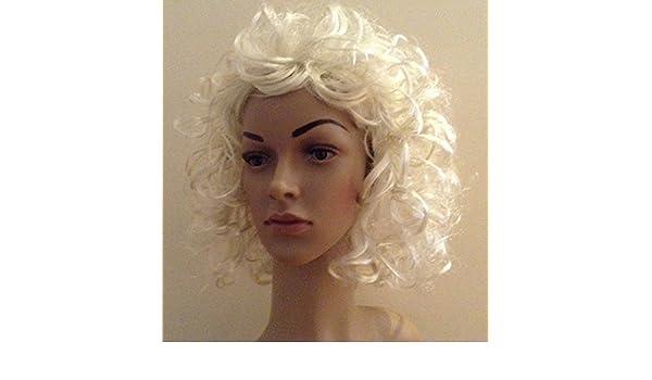Vestido de lujo Madonna Sandy Grease Marilyn Monroe 70s 80s 90s peluca rubia: Amazon.es: Juguetes y juegos