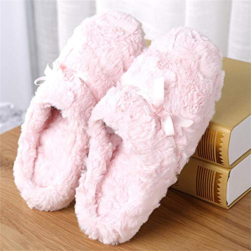 La Morbido Inverno Casa Impermeabile Ecopelliccia Mocassini Donna 2 Da Pantofole Peluche All'aperto Per Con Caldo Rosa waEYxpvqP