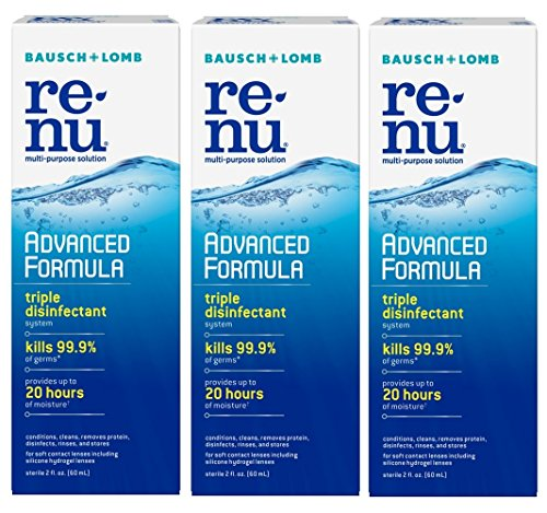 Renu Multi-Purpose Contact Lens Solution 2 oz Travel Size (Pack Of 3) from Bausch & Lomb